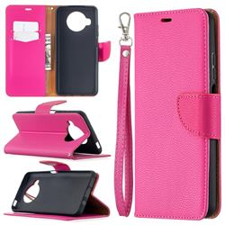 Classic Luxury Litchi Leather Phone Wallet Case for Xiaomi Mi 10T Lite 5G - Rose