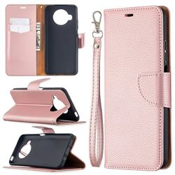 Classic Luxury Litchi Leather Phone Wallet Case for Xiaomi Mi 10T Lite 5G - Golden
