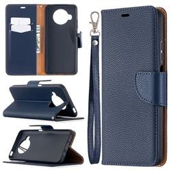 Classic Luxury Litchi Leather Phone Wallet Case for Xiaomi Mi 10T Lite 5G - Blue