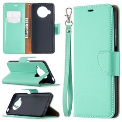 Classic Luxury Litchi Leather Phone Wallet Case for Xiaomi Mi 10T Lite 5G - Green