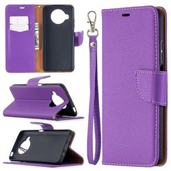 Classic Luxury Litchi Leather Phone Wallet Case for Xiaomi Mi 10T Lite 5G - Purple