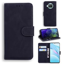 Retro Classic Skin Feel Leather Wallet Phone Case for Xiaomi Mi 10T Lite 5G - Black