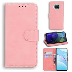 Retro Classic Skin Feel Leather Wallet Phone Case for Xiaomi Mi 10T Lite 5G - Pink