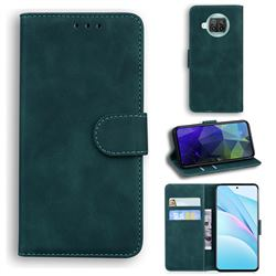 Retro Classic Skin Feel Leather Wallet Phone Case for Xiaomi Mi 10T Lite 5G - Green