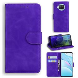 Retro Classic Skin Feel Leather Wallet Phone Case for Xiaomi Mi 10T Lite 5G - Purple