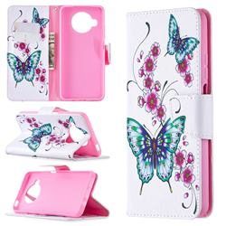 Peach Butterflies Leather Wallet Case for Xiaomi Mi 10T Lite 5G
