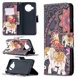 Totem Flower Elephant Leather Wallet Case for Xiaomi Mi 10T Lite 5G
