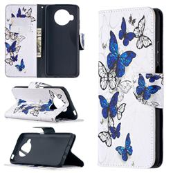 Flying Butterflies Leather Wallet Case for Xiaomi Mi 10T Lite 5G