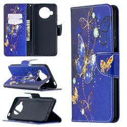Purple Butterfly Leather Wallet Case for Xiaomi Mi 10T Lite 5G