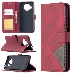 Binfen Color BF05 Prismatic Slim Wallet Flip Cover for Xiaomi Mi 10T Lite 5G - Red
