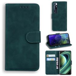 Retro Classic Skin Feel Leather Wallet Phone Case for Xiaomi Mi 10 Ultra - Green