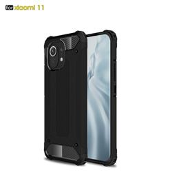 King Kong Armor Premium Shockproof Dual Layer Rugged Hard Cover for Xiaomi Mi 11 - Black Gold