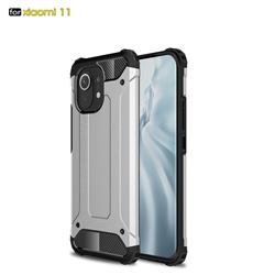 King Kong Armor Premium Shockproof Dual Layer Rugged Hard Cover for Xiaomi Mi 11 - White