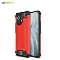King Kong Armor Premium Shockproof Dual Layer Rugged Hard Cover for Xiaomi Mi 11 - Big Red