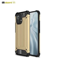 King Kong Armor Premium Shockproof Dual Layer Rugged Hard Cover for Xiaomi Mi 11 - Champagne Gold