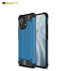 King Kong Armor Premium Shockproof Dual Layer Rugged Hard Cover for Xiaomi Mi 11 - Sky Blue