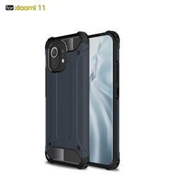King Kong Armor Premium Shockproof Dual Layer Rugged Hard Cover for Xiaomi Mi 11 - Navy