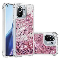 Dynamic Liquid Glitter Sand Quicksand Star TPU Case for Xiaomi Mi 11 - Diamond Rose