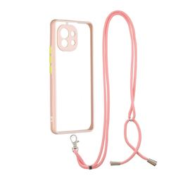 Necklace Cross-body Lanyard Strap Cord Phone Case Cover for Xiaomi Mi 11 - Pink