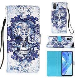 Cloud Kito 3D Painted Leather Wallet Case for Xiaomi Mi 11 Lite