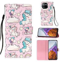 Angel Pony 3D Painted Leather Wallet Case for Xiaomi Mi 11 Pro