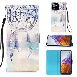 Fantasy Campanula 3D Painted Leather Wallet Case for Xiaomi Mi 11 Pro