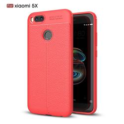 Luxury Auto Focus Litchi Texture Silicone TPU Back Cover for Xiaomi Mi A1 / Mi 5X - Red