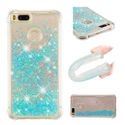 Dynamic Liquid Glitter Sand Quicksand TPU Case for Xiaomi Mi A1 / Mi 5X - Silver Blue Star