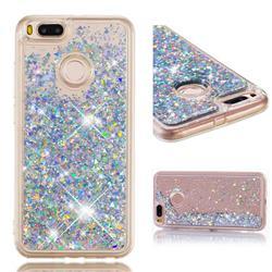 Dynamic Liquid Glitter Quicksand Sequins TPU Phone Case for Xiaomi Mi A1 / Mi 5X - Silver