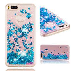 Dynamic Liquid Glitter Quicksand Sequins TPU Phone Case for Xiaomi Mi A1 / Mi 5X - Blue