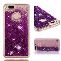 Dynamic Liquid Glitter Quicksand Sequins TPU Phone Case for Xiaomi Mi A1 / Mi 5X - Purple