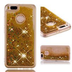 Dynamic Liquid Glitter Quicksand Sequins TPU Phone Case for Xiaomi Mi A1 / Mi 5X - Golden