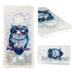 Sweet Gray Owl Dynamic Liquid Glitter Sand Quicksand Star TPU Case for Xiaomi Mi A1 / Mi 5X