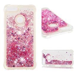 Dynamic Liquid Glitter Sand Quicksand Star TPU Case for Xiaomi Mi A1 / Mi 5X - Diamond Rose