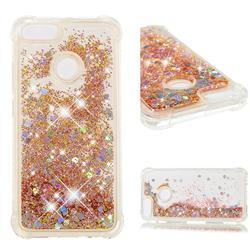 Dynamic Liquid Glitter Sand Quicksand Star TPU Case for Xiaomi Mi A1 / Mi 5X - Diamond Gold