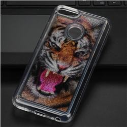 Tiger Glassy Glitter Quicksand Dynamic Liquid Soft Phone Case for Xiaomi Mi A1 / Mi 5X