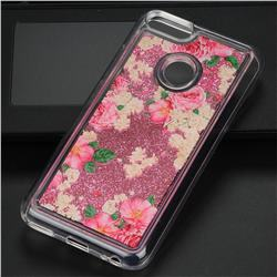 Rose Flower Glassy Glitter Quicksand Dynamic Liquid Soft Phone Case for Xiaomi Mi A1 / Mi 5X