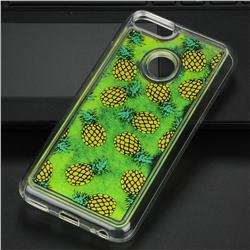 Pineapple Glassy Glitter Quicksand Dynamic Liquid Soft Phone Case for Xiaomi Mi A1 / Mi 5X