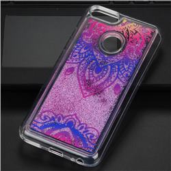 Blue and White Glassy Glitter Quicksand Dynamic Liquid Soft Phone Case for Xiaomi Mi A1 / Mi 5X