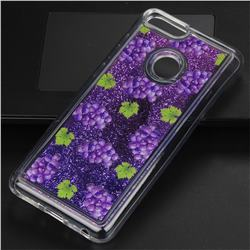 Purple Grape Glassy Glitter Quicksand Dynamic Liquid Soft Phone Case for Xiaomi Mi A1 / Mi 5X