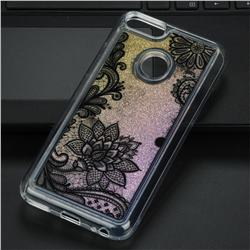 Diagonal Lace Glassy Glitter Quicksand Dynamic Liquid Soft Phone Case for Xiaomi Mi A1 / Mi 5X