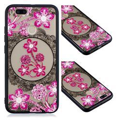 Daffodil Lace Diamond Flower Soft TPU Back Cover for Xiaomi Mi A1 / Mi 5X
