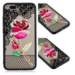 Rose Lace Diamond Flower Soft TPU Back Cover for Xiaomi Mi A1 / Mi 5X