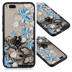 Lilac Lace Diamond Flower Soft TPU Back Cover for Xiaomi Mi A1 / Mi 5X