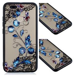Butterfly Lace Diamond Flower Soft TPU Back Cover for Xiaomi Mi A1 / Mi 5X