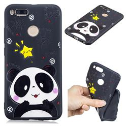 Cute Bear 3D Embossed Relief Black TPU Cell Phone Back Cover for Xiaomi Mi A1 / Mi 5X