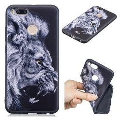 Lion 3D Embossed Relief Black TPU Cell Phone Back Cover for Xiaomi Mi A1 / Mi 5X