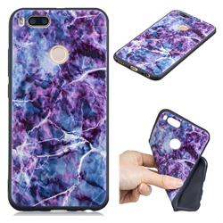 Marble 3D Embossed Relief Black TPU Cell Phone Back Cover for Xiaomi Mi A1 / Mi 5X