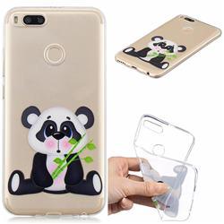 Bamboo Panda Clear Varnish Soft Phone Back Cover for Xiaomi Mi A1 / Mi 5X