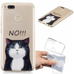 Cat Say No Clear Varnish Soft Phone Back Cover for Xiaomi Mi A1 / Mi 5X